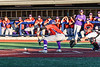 Cortland Crush Jimmy Tatum (17) puts down a bunt against the Syracuse Salt Cats at OCC Turf Field in Syracuse, New York on Thursday, June 21, 2018. Syracuse won 6-2.