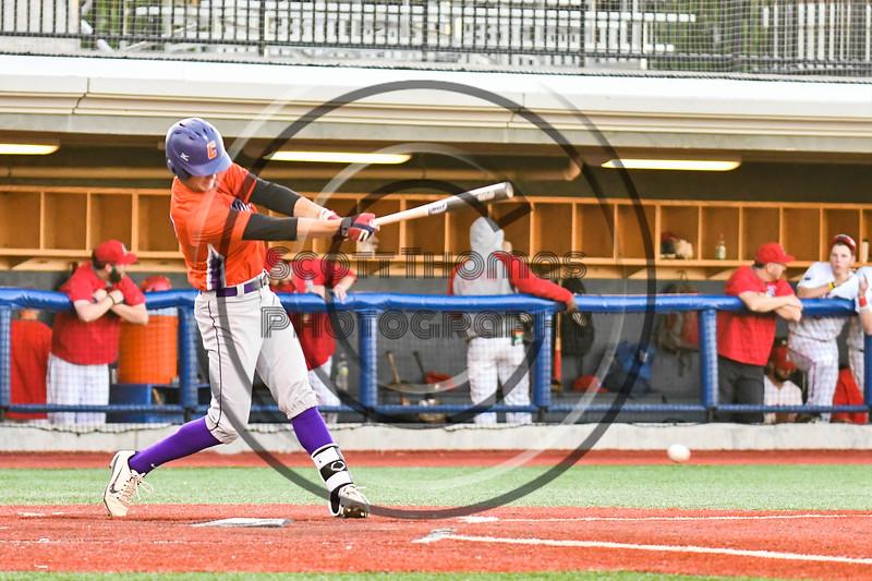 Cortland Crush Jimmy Tatum (17) hits the ball against the Syracuse Salt Cats at OCC Turf Field in Syracuse, New York on Thursday, June 21, 2018. Syracuse won 6-2.