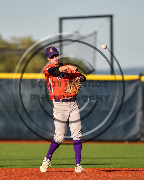 Cortland Crush Jimmy Tatum (17) throwing the ball against the Syracuse Salt Cats at OCC Turf Field in Syracuse, New York on Thursday, June 21, 2018. Syracuse won 6-2.