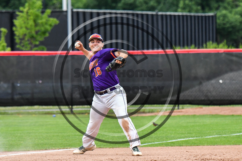 Cortland Crush Alex Babcock (16) throwing the ball against the Rome Generals on Wallace Field in Cortland, New York on Sunday, June 23, 2018. Cortland won 14-5.