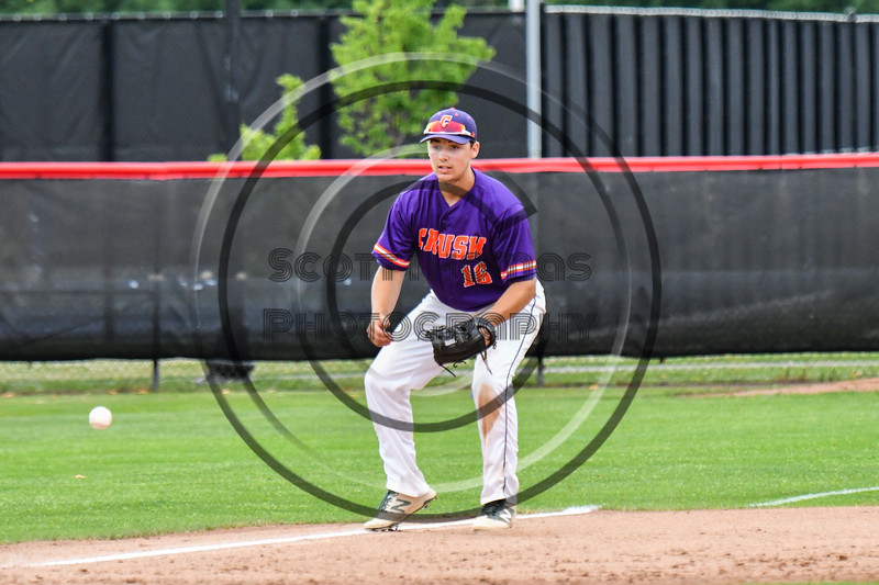Cortland Crush Alex Babcock (16) fielding the baseball against the Rome Generals on Wallace Field in Cortland, New York on Sunday, June 23, 2018. Cortland won 14-5.