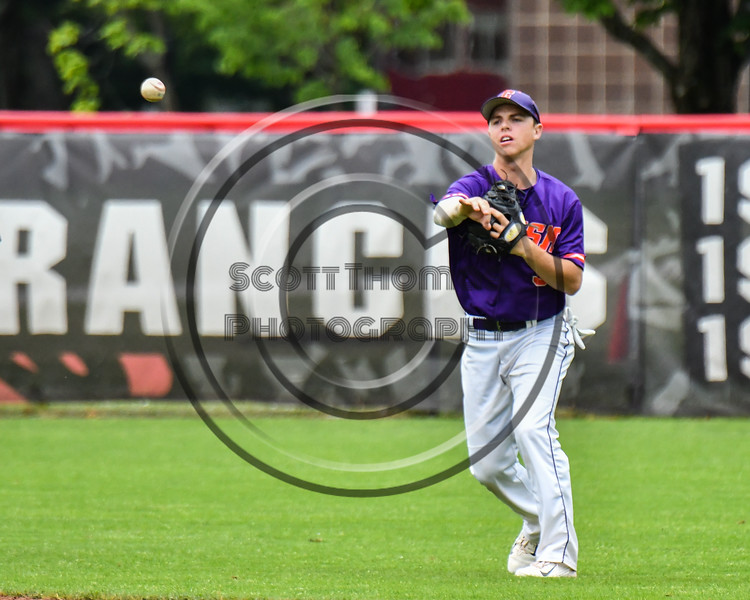 Cortland Crush Anthony Cieszko (3) throwing the ball against the Rome Generals on Wallace Field in Cortland, New York on Sunday, June 23, 2018. Cortland won 14-5.