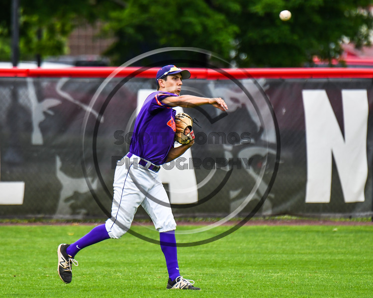 Cortland Crush Joe Palmo (21) throwing the ball against  the Rome Generals on Wallace Field in Cortland, New York on Sunday, June 23, 2018. Cortland won 14-5.