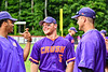 Cortland Crush Hayden Houts (5) laughing it up during the game against the Rome Generals on Wallace Field in Cortland, New York on Sunday, June 23, 2018. Cortland won 14-5.