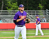 Cortland Crush Alex Larson (26) being introduced before playing the Rome Generals on Wallace Field in Cortland, New York on Sunday, June 23, 2018.