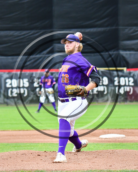 Cortland Crush Alex Larson (26) pitching against the Rome Generals on Wallace Field in Cortland, New York on Sunday, June 23, 2018. Cortland won 14-5.
