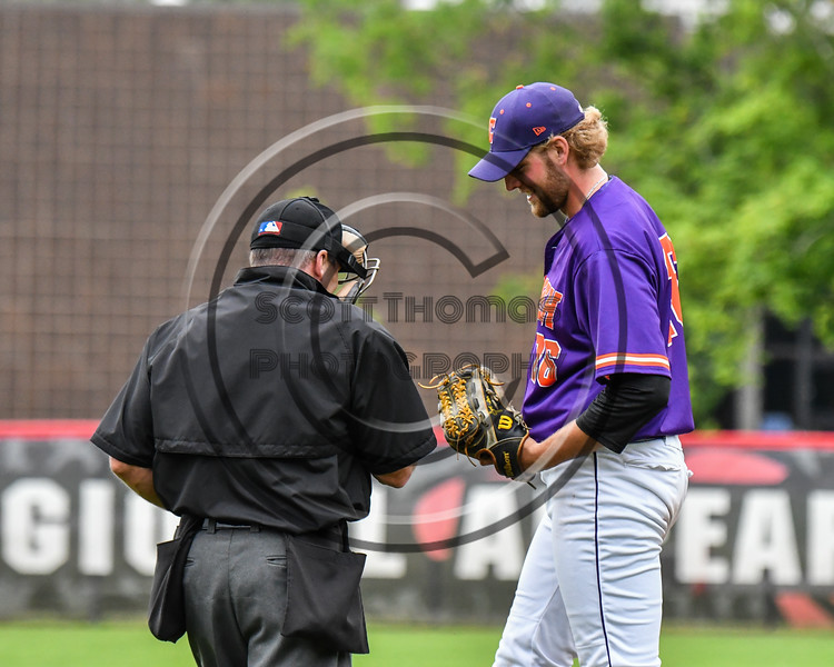Cortland Crush Alex Larson (26) gets a baseball from the Home Plate Umpire during the game against Rome Generals on Wallace Field in Cortland, New York on Sunday, June 23, 2018. Cortland won 14-5.