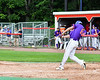 Cortland Crush Jimmy Tatum (17) hits the ball against the Rome Generals on Wallace Field in Cortland, New York on Sunday, June 23, 2018. Cortland won 14-5.