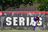 Cortland Crush Nelson Laviosa (10) throwing the ball against the Rome Generals on Wallace Field in Cortland, New York on Sunday, June 23, 2018. Cortland won 14-5.