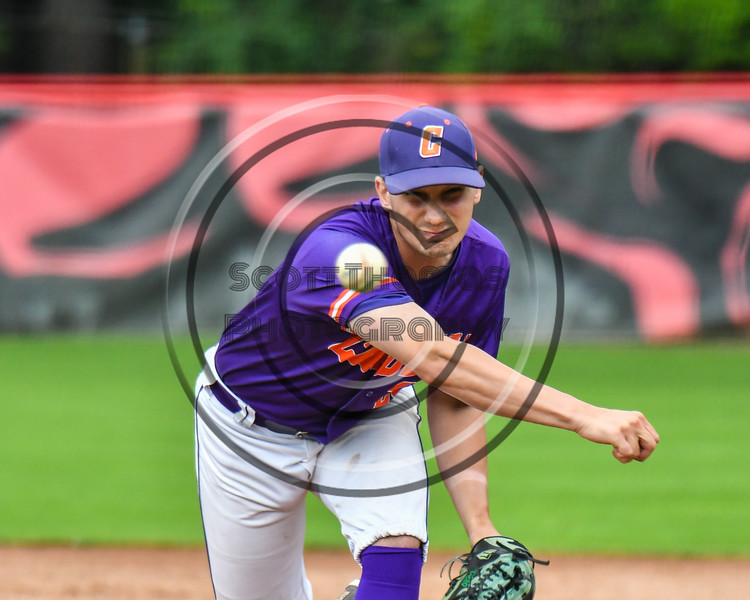 Cortland Crush Maxwell Tannebaum (23) pitching against the Rome Generals on Wallace Field in Cortland, New York on Sunday, June 23, 2018. Cortland won 14-5.
