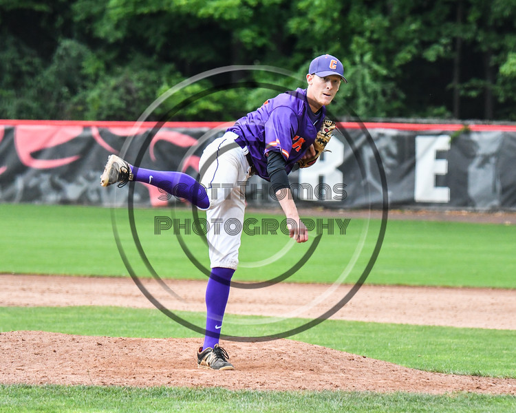 Cortland Crush Jonathan Triesler (19) closing out the Rome Generals on Wallace Field in Cortland, New York on Sunday, June 23, 2018. Cortland won 14-5.