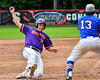 Cortland Crush Alex Babcock (16) slides safely into 3rd Base against the Rome Generals on Wallace Field in Cortland, New York on Sunday, June 23, 2018. Cortland won 14-5.