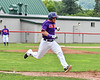 Cortland Crush Hayden Houts (5) running to 1st Base against the Rome Generals on Wallace Field in Cortland, New York on Sunday, June 23, 2018. Cortland won 14-5.