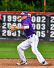 Cortland Crush Tyler McKeon (7) lining up a throw against the Rome Generals on Wallace Field in Cortland, New York on Sunday, June 23, 2018. Cortland won 14-5.