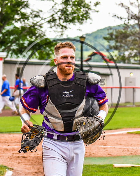 Cortland Crush Justin Valentino (15) playing against the Rome Generals on Wallace Field in Cortland, New York on Sunday, June 23, 2018. Cortland won 14-5.