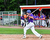 Cortland Crush Jimmy Tatum (17) after hitting the ball against the Rome Generals on Wallace Field in Cortland, New York on Sunday, June 23, 2018. Cortland won 14-5.
