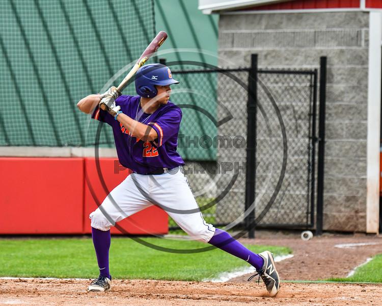 Cortland Crush Benjamin Horsfall (22) at bat against the Rome Generals on Wallace Field in Cortland, New York on Sunday, June 23, 2018. Cortland won 14-5.