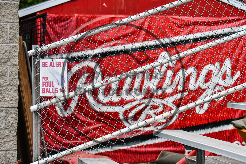Rawlings banner at Wallace Field in Cortland, New York on Sunday, June 23, 2018.