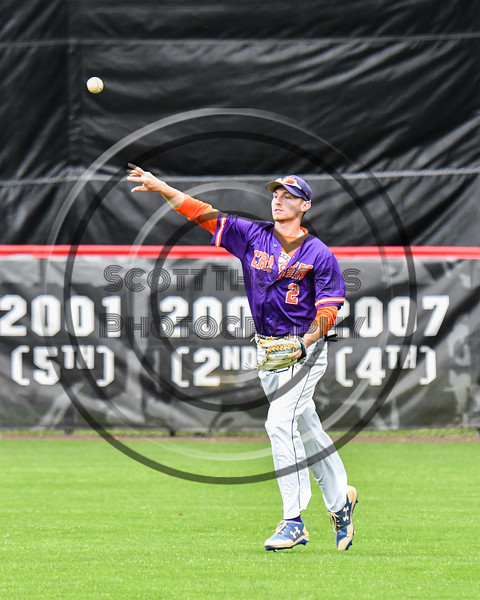 Cortland Crush Alex Flock (2) throwing the ball against the Rome Generals on Wallace Field in Cortland, New York on Sunday, June 23, 2018. Cortland won 14-5.