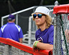 Cortland Crush fan watching them play the Rome Generals on Wallace Field in Cortland, New York on Sunday, June 23, 2018. Cortland won 14-5.