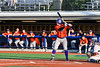 Cortland Crush Hayden Houts (5) at bat against the Onondaga Flames at OCC Turf Field in Syracuse, New York on Saturday, June 30, 2018. Onondaga won 9-7.