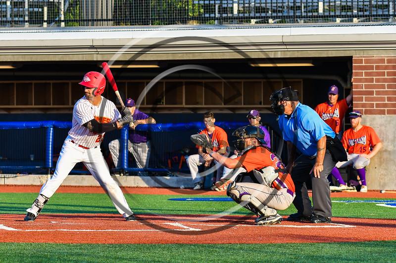 Cortland Crush Benjamin Horsfall (22) catching against the Onondaga Flames at OCC Turf Field in Syracuse, New York on Saturday, June 30, 2018. Onondaga won 9-7.