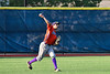 Cortland Crush Joe Palmo (21) throwing the ball against the Onondaga Flames at OCC Turf Field in Syracuse, New York on Saturday, June 30, 2018. Onondaga won 9-7.