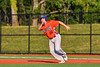 Cortland Crush Alex Babcock (16) running the bases against the Onondaga Flames at OCC Turf Field in Syracuse, New York on Saturday, June 30, 2018. Onondaga won 9-7.