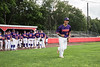 Cortland Crush Julio Creazzola (11) being introduced before playing the Syracuse Spartans on Wallace Field in Cortland, New York on Wednesday, July 4, 2018.