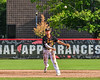 Syracuse Spartans Short Stop throwing the ball against the Cortland Crush on Wallace Field in Cortland, New York on Wednesday, July 11, 2018. Cortland won 8-3.