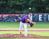 Cortland Crush Daniel Steve (62) pitching against the Syracuse Spartans on Wallace Field in Cortland, New York on Wednesday, July 11, 2018. Cortland won 8-3.