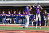 Cortland Crush Tyler McKeon (7) celebrates a run scored by Nelson Laviosa (10) against the Syracuse Salt Cats at OCC Turf Field in Syracuse, New York on Friday, July 13, 2018. Cortland won 3-2.