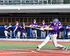 Cortland Crush Dylan Ketch (14) hits the ball against the Syracuse Salt Cats at OCC Turf Field in Syracuse, New York on Friday, July 13, 2018. Cortland won 3-2.