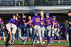 Cortland Crush Zach Kelley (33) gets congratulated after scoring against the Onondaga Flames at OCC Turf Field in Syracuse, New York on Thursday, July 19, 2018. Onondaga won 6-2.