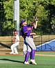 Cortland Crush Alex Larson (26) catches a pop up ball against the Onondaga Flames at OCC Turf Field in Syracuse, New York on Thursday, July 19, 2018. Onondaga won 6-2.