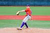 Cortland Crush Brian Wojichowski (38) pitching against the Syracuse Salt Cats at OCC Turf Field in Syracuse, New York on Saturday, July 21, 2018. Syracuse won 5-4.