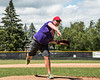 A representative of Anderson's Farm Market threw out the First Pitch before a Cortland Crush game on Greg's Field at Beaudry Park in Cortland, New York on Sunday, July 22, 2018.