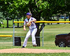 Cortland Crush Charlie Hammell (20) pitching against the Onondaga Flames on Greg's Field at Beaudry Park in Cortland, New York on Sunday, July 22, 2018. Onondaga won 24-6.