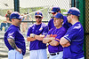 Cortland Crush Coaching staff before a New York Collegiate Baseball League game against the Mansfield Destroyers at the Gutchess Lumber Sports Complex in Cortland, New York on Saturday, June 8, 2019.