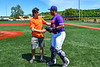 Throwing out the First Pitch with Kam Holland (43) before the Cortland Crush played the Mansfield Destroyers at the Gutchess Lumber Sports Complex in New York Collegiate Baseball League game at Cortland, New York on Saturday, June 8, 2019.