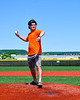 Throwing out the First Pitch before the Cortland Crush played the Mansfield Destroyers at the Gutchess Lumber Sports Complex in New York Collegiate Baseball League game at Cortland, New York on Saturday, June 8, 2019.