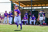 Cortland Crush Hayden Houts (5) being introduced before playing the Mansfield Destroyers in a New York Collegiate Baseball League game at the Gutchess Lumber Sports Complex in Cortland, New York on Saturday, June 8, 2019.