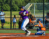 Cortland Crush Kam Holland (43) after hitting the ball against the Mansfield Destroyers in New York Collegiate Baseball League action at Gutchess Lumber Sports Complex in Cortland, New York on Saturday, June 8, 2019. Mansfield won 7-6.