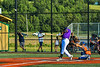 Cortland Crush Kam Holland (43) hits the ball against  the Mansfield Destroyers in New York Collegiate Baseball League action at Gutchess Lumber Sports Complex in Cortland, New York on Saturday, June 8, 2019. Mansfield won 7-6.