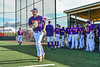 Cortland Crush Alex Flock (10) being introduced before playing the Mansfield Destroyers in New York Collegiate Baseball League action at Gutchess Lumber Sports Complex in Cortland, New York on Saturday, June 8, 2019.