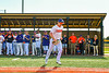 Cortland Crush Henry Strmecki (4) being introduced before playing the Sherrill Silversmiths in a New York Collegiate Baseball League game at Gutchess Lumber Sports Complex in Cortland, New York on Friday, June 14, 2019.