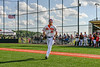 Cortland Crush Stephen Bennett (30) being introduced before playing the Sherrill Silversmiths in a New York Collegiate Baseball League game at Gutchess Lumber Sports Complex in Cortland, New York on Friday, June 14, 2019.