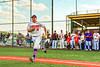 Cortland Crush Garrett Callghan (15) being introduced before playing the Sherrill Silversmiths in a New York Collegiate Baseball League game at Gutchess Lumber Sports Complex in Cortland, New York on Friday, June 14, 2019.