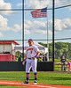 Cortland Crush Hayden Houts (5) being introduced before playing the Sherrill Silversmiths in a New York Collegiate Baseball League game at Gutchess Lumber Sports Complex in Cortland, New York on Friday, June 14, 2019.