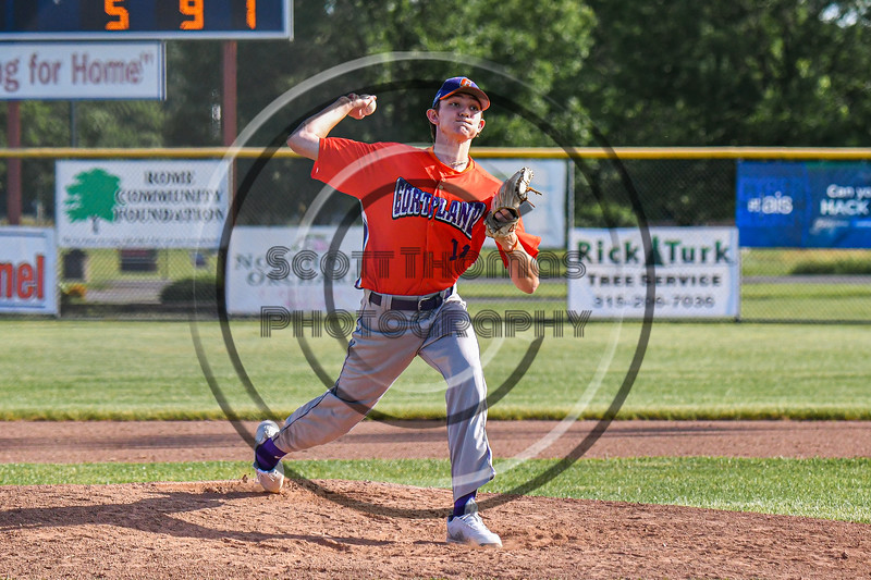Cortland Crush Noah Nabholz (11) pitching against the Rome Generals in New York Collegiate Baseball League action at Larry Delutis Field in Rome, New York on Saturday, June 22, 2019. Cortland won 16-9.